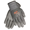 Memphis Ninja Force Polyurethane Coated Gloves, Large, Gray (CRWN9677L)