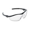Crews Storm Wraparound Safety Glasses, Black Nylon Frame, Clear Lens (CRWST110)