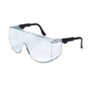 Crews Tacoma Wraparound Safety Glasses, Black Frames, Clear Lenses (CRWTC110XL)