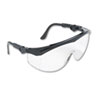 Crews Tomahawk Wraparound Safety Glasses, Black Nylon Frame, Clear Lens (CRWTK110)