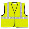 Mcr Safety Class 2 Safety Vest, Fluorescent Lime w/Silver Stripe, Polyester, Large (CRWVCL2SLL)
