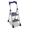 Cosco Two-Step Steel Work Platform, 225lb Duty Rating,18wx24.5dx48h, Platinum/Black (CSC11380PBL1)