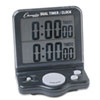 Champion Sports Dual Timer/Clock w/Jumbo Display, LCD, 3 1/2 x 1 x 4 1/2 (CSIDC100)