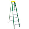 Louisville #592 Eight-Foot Folding Fiberglass Step Ladder, Green/Black (DADFS4008)