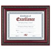 Dax World Class Document Frame w/Certificate, Rosewood, 8 1/2 x 11 (DAXN3245N3T)