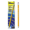 Dixon Oriole Woodcase Presharpened Pencil, HB #2, Yellow Barrel, 12/Pack (DIX12886)