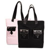 Day-Timer Pink Ribbon Canvas Tote, Reversible, 13 x 15 x 6, Black/Pink (DTM48479)