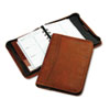 Day-Timer Aviator Cowhide Leather Zippered Organizer Starter Set, 5-1/2 x 8-1/2, Dark Tan (DTM80844)