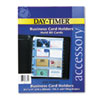 Day-Timer Business Card Holders for Looseleaf Planners, 8 1/2 x 11, 5/Pack (DTM87325)