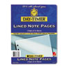 Day-Timer Lined Note Pads for Organizer, 8-1/2 x 11, 48 Sheets/Pack (DTM87328)