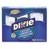 Dixie Combo Pack, Tray w/Plastic Forks, Knives, Spoons, WE, 168 Pieces/Pack (DXECM168)