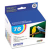 Epson T078920 (78) Claria Ink, 1290 Page-Yield, 5/Pack, Assorted (EPST078920)