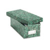 Oxford Reinforced Board Card File, Lift-Off Lid, Holds 1,200 3 x 5 Cards, Green Marble (ESS39632)