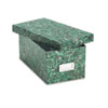 Oxford Reinforced Board Card File, Lift-Off Lid, Holds 1,200 4 x 6 Cards, Green Marble (ESS39642)