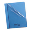 Oxford Clear Front Report Cover, Tang Clip, Letter, 1/2 Capacity, Blue, 25/Box (ESS55801)