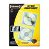 Fellowes CD/DVD Protector Sheets for Three-Ring Binder, Clear, 10/Pack (FEL95304)