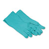 Boardwalk Nitrile Flock-Lined Gloves, Green, X-Large (BWK183XL)