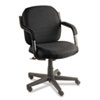 Global Commerce Series Low-Back Swivel/Tilt Chair, Asphalt Black Fabric (GLB4737BKPB09)