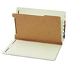 Globe-Weis Pressboard End Tab Classification Folders, Four Sections, Legal, Green, 10/Box (GLW23314)
