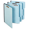 Globe-Weis Folders, Two Inch Expansion, Two Fasteners, 1/3 Cut, Letter, Light Blue, 25/Box (GLW61542)