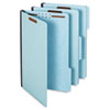 Globe-Weis Folders, Two Inch Expansion, Two Fasteners, 1/3 Cut, Legal, Light Blue, 25/Box (GLW61552)