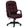 Hon 2090 Pillow-Soft Executive High-Back Swivel/Tilt Chair, Wine Fabric/Black Base (HON2091NT69T)