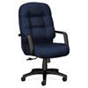Hon 2090 Pillow-Soft Executive High-Back Swivel/Tilt Chair, Mariner, Black Base (HON2091NT90T)