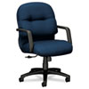 Hon 2090 Pillow-Soft Managerial Mid-Back Swivel/Tilt Chair, Mariner, Black Base (HON2092NT90T)