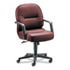 Hon Leather 2090 Pillow-Soft Series Managerial Mid-Back Swivel/Tilt Chair, Burgundy (HON2092SR69T)