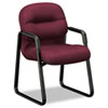 Hon 2090 Pillow-Soft Series Guest Arm Chair, Wine Upholstery/Black Sled Base (HON2093NT69T)