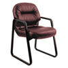 Hon Leather 2090 Pillow-Soft Series Guest Arm Chair, Burgundy (HON2093SR69T)