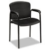 Hon Tiempo Guest Arm Chair without Casters, Black (HON4605NT10T)
