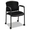 Hon Tiempo Guest Arm Chair with Casters, Black (HON4615NT10T)