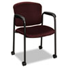 Hon Tiempo Guest Arm Chair with Casters, Wine (HON4615NT69T)