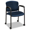 Hon Tiempo Guest Arm Chair with Casters, Mariner (HON4615NT90T)