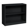 Hon Metal Bookcase, 2 Shelves, 34-1/2w x 12-5/8d x 29h, Black (HONS30ABCP)