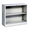 Hon Metal Bookcase, 2 Shelves, 34-1/2w x 12-5/8d x 29h, Light Gray (HONS30ABCQ)