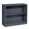 Hon Metal Bookcase, 2 Shelves, 34-1/2w x 12-5/8d x 29h, Charcoal (HONS30ABCS)