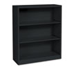 Hon Metal Bookcase, 3 Shelves, 34-1/2w x 12-5/8d x 41h, Black (HONS42ABCP)
