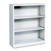 Hon Metal Bookcase, 3 Shelves, 34-1/2w x 12-5/8d x 41h, Light Gray (HONS42ABCQ)