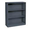 Hon Metal Bookcase, 3 Shelves, 34-1/2w x 12-5/8d x 41h, Charcoal (HONS42ABCS)