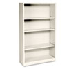 Hon Metal Bookcase, 4 Shelves, 34-1/2w x 12-5/8d x 59h, Putty (HONS60ABCL)