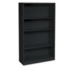 Hon Metal Bookcase, 4 Shelves, 34-1/2w x 12-5/8d x 59h, Black (HONS60ABCP)