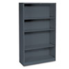 Hon Metal Bookcase, 4 Shelves, 34-1/2w x 12-5/8d x 59h, Charcoal (HONS60ABCS)