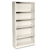 Hon Metal Bookcase, 5 Shelves, 34-1/2w x 12-5/8d x 71h, Putty (HONS72ABCL)