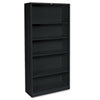 Hon Metal Bookcase, 5 Shelves, 34-1/2w x 12-5/8w x 71h, Black (HONS72ABCP)