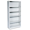 Hon Metal Bookcase, 5 Shelves, 34-1/2w x 12-5/8d x 71h, Light Gray (HONS72ABCQ)