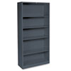 Hon Metal Bookcase, 5 Shelves, 34-1/2w x 12-5/8d x 71h, Charcoal (HONS72ABCS)