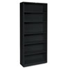 Hon Metal Bookcase, 6 Shelves, 34-1/2w x 12-5/8d x 81-1/8h, Black (HONS82ABCP)