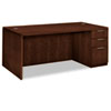 Hon Arrive Single Pedestal Veneer Desk, Right, Shaker Cherry, 72w x 36d x 29-1/2h (HONVW076RC1Z9FF)